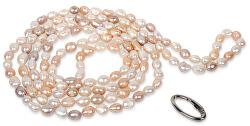 Dlhý náhrdelník z pravých multibarevných perál JL0140