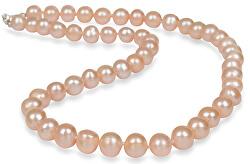 Náhrdelník s pravými lososovými perlami JL0267