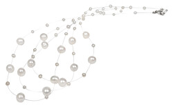 Náhrdelník z levitujících pravých perel JL0203