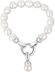 Náramek z pravých bílých perel JL0560