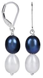 Stříbrné náušnice s pravými perlami JL0501