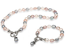 Zvýhodněná perlová souprava šperků JL0563 a JL0564 (náramek, náhrdelník)