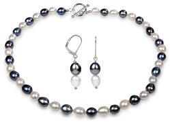 Zvýhodnená perlová súprava šperkov JL0500 a JL0501 (náušnice, náhrdelník)