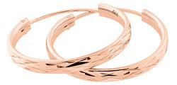 Cercei de tip inele placați cu aur roz SVLE0205XD5RO