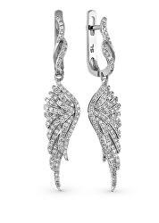 Dlouhé stříbrné náušnice Andělská křídla SVLE0389SH2BI00
