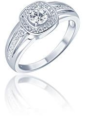 Elegantný strieborný prsteň so zirkónmi SVLR0320XF3BI
