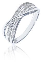 Elegantní stříbrný prsten se zirkony SVLR0326XF3BI
