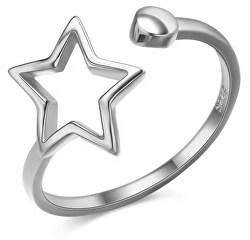 Krásny otvorený strieborný prsteň SVLR0256XH2BI