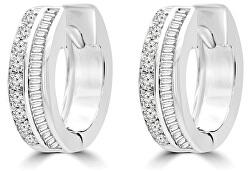 Cercei rotunzi din argint cu zirconii SVLE0833XH2BI00