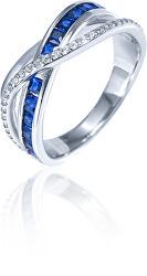 Luxusný strieborný prsteň so zirkónmi SVLR0340XH2MB