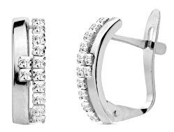 Cercei moderni din argint cu zirconii SVLE0870XH2BI00