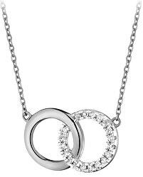 Módní stříbrný náhrdelník SVLN0380SH2BI45