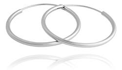 Nestárnoucí stříbrné kruhové náušnice SVLE0208XD500