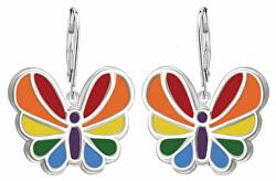 Nežné náušnice zo striebra motýle SVLE0828XH20000