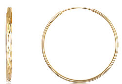 Pozlacené stříbrné náušnice kruhy SVLE0209XD5GO
