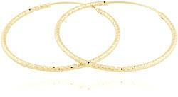 Pozlacené stříbrné náušnice kruhy SVLE0216XD5GO