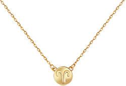 Pozlacený náhrdelník s přívěskem Beran SVLN0165XF3GOBE