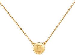 Pozlacený náhrdelník s přívěskem Blíženci SVLN0165XF3GOBL