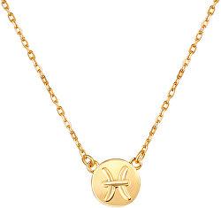 Pozlacený náhrdelník s přívěskem Ryby SVLN0165XF3GORY