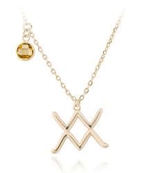 Pozlacený náhrdelník s přívěskem Vodnář SVLN0135X61GOVO