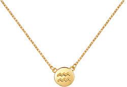 Pozlacený náhrdelník s přívěskem Vodnář SVLN0165XF3GOVO