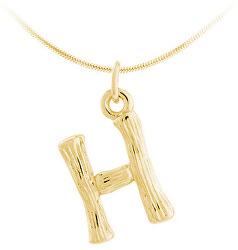 """Pozlacený stříbrný přívěsek písmeno """"H"""" SVLP0486XH2GO0H"""