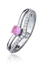 Půvabný stříbrný prsten se zirkony SVLR0218SH8F2