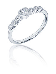 Romantický stříbrný prsten se zirkony SVLR0346XF3BI