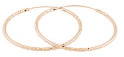 Růžově zlacené náušnice kruhy SVLE0215XD5RO