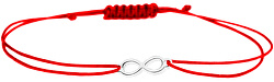 Šňůrkový červený náramek Nekonečno SVLB0149XH20000