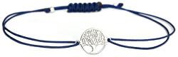 Šňůrkový modrý náramek Strom života SVLB0146XH20000