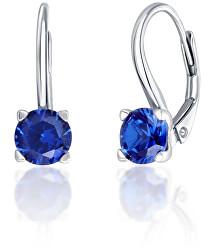 Stříbrné náušnice s modrými zirkony SVLE0503XF3M108