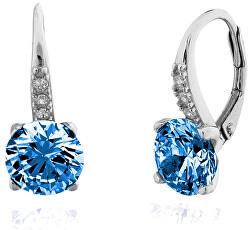 Stříbrné náušnice s modrými zirkony SVLE0347XF3M20M
