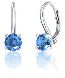 Stříbrné náušnice se světle modrými zirkony SVLE0503XF3M308