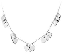 Stříbrný náhrdelník se srdíčky SVLN0181XH20045