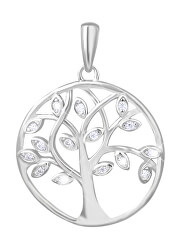 Stříbrný přívěsek s čirými zirkony Strom života SVLP0237XH2BI00