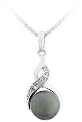 Stříbrný přívěsek s tmavou perlou SVLP0171SD2P300