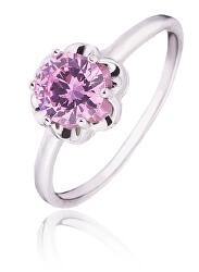 Stříbrný prsten s fialovým zirkonem SVLR0015SD5R2