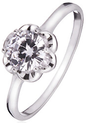 Stříbrný prsten s čirým zirkonem SVLR0015SD5BI