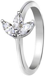 Stříbrný prsten s krystaly SVLR0286SI7BI