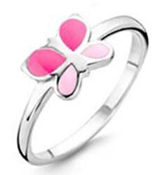 Stříbrný prsten s motýlkem SVLE0395SH2MO