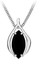 Štýlový strieborný prívesok s čiernym onyxom SVLP0348SH8BL00
