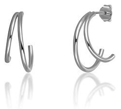 Zajímavé stříbrné minimalistické náušnice SVLE0702XH20000