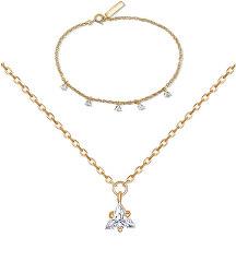Zvýhodněná sada šperků ze stříbra JVD (náramek, náhrdelník)