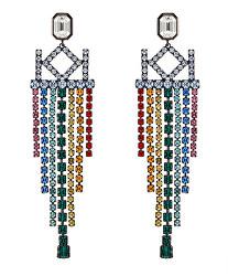 Luxusní náušnice s krystaly Chain Chendelier 5545048