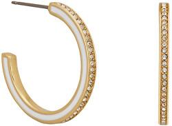 Pozlacené kruhové náušnice s krystaly 5545300