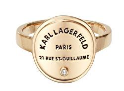 Stylový pozlacený prsten s výrazným logem 554530