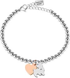 Bicolor náramok Mačička a Srdiečko LPS05AQI05