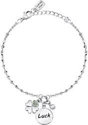 Dámsky oceľový náramok s prívesky pre šťastie Friendship LPS05ARR62