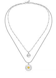 Dvojitý kvetinový náhrdelník s príveskami Love LPS10ASD05